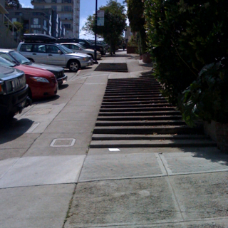Things I Love: Sidewalks so steep they require stairs