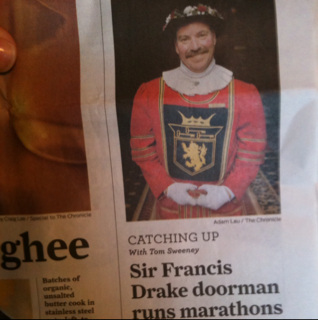 Sir Francis Drake doorman runs marathons